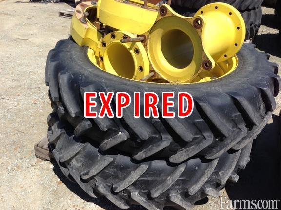Farm Tractor Chains : John deere front duals off tires rims