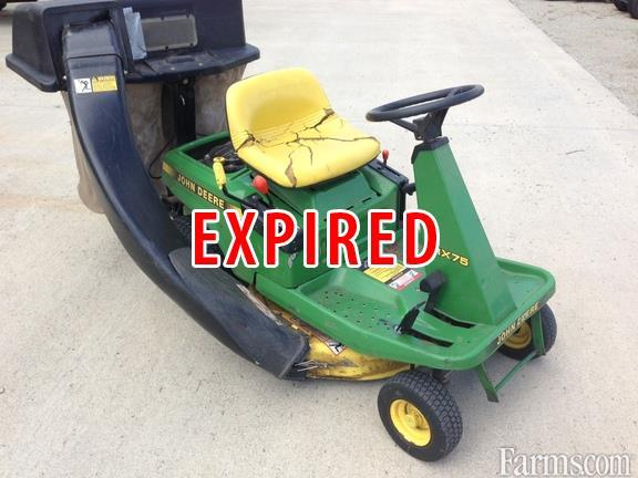 1991 John Deere Srx75 Riding Lawn Mower Classified