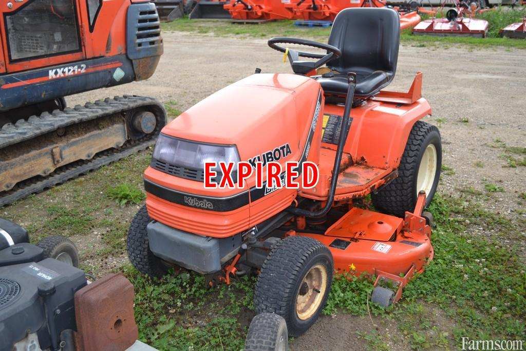 Kubota g1700 lawn tractor for sale for Used lawn and garden equipment