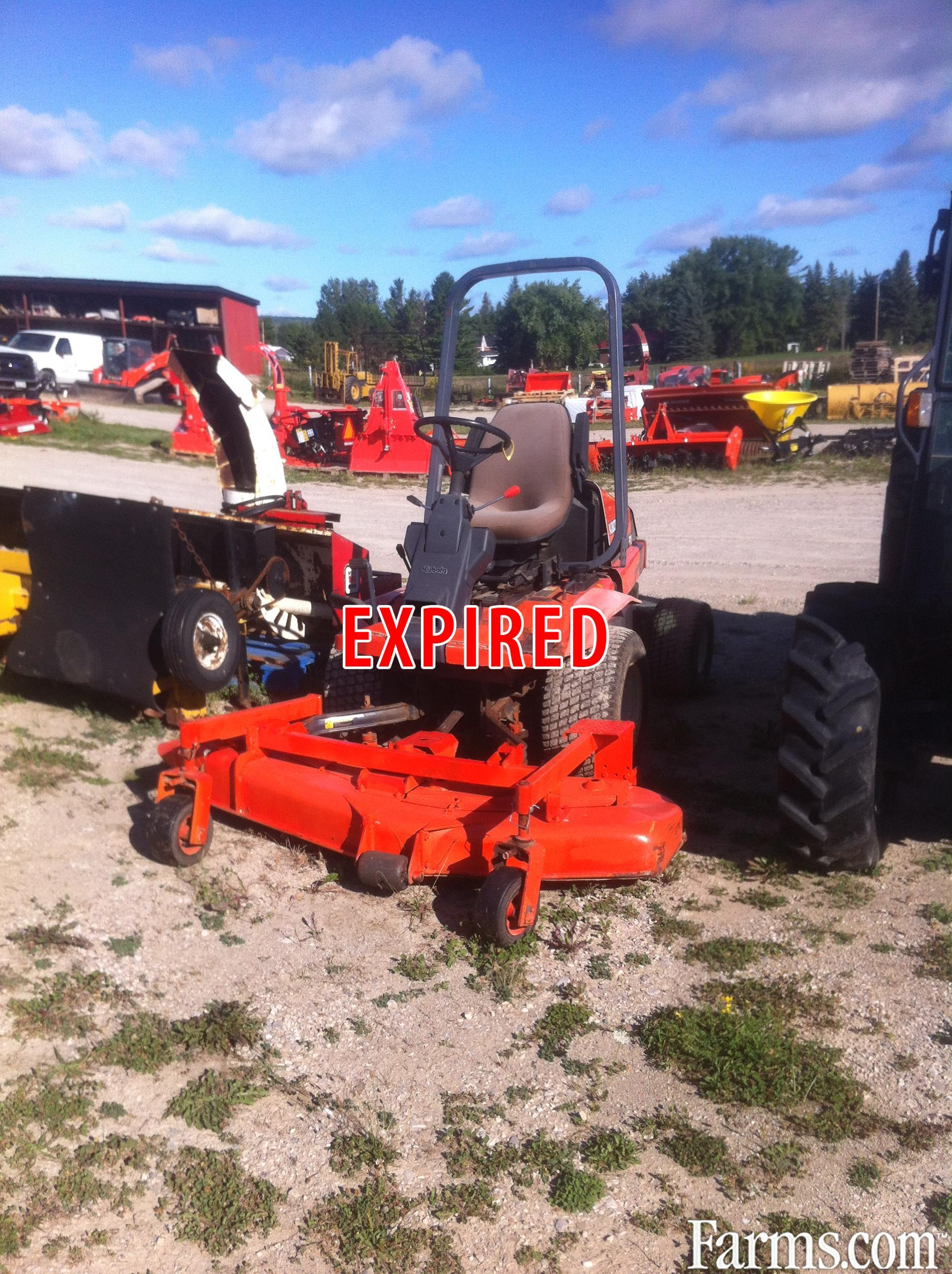 1997 kubota f2560 mower front deck for sale Used garden tractors for sale near me