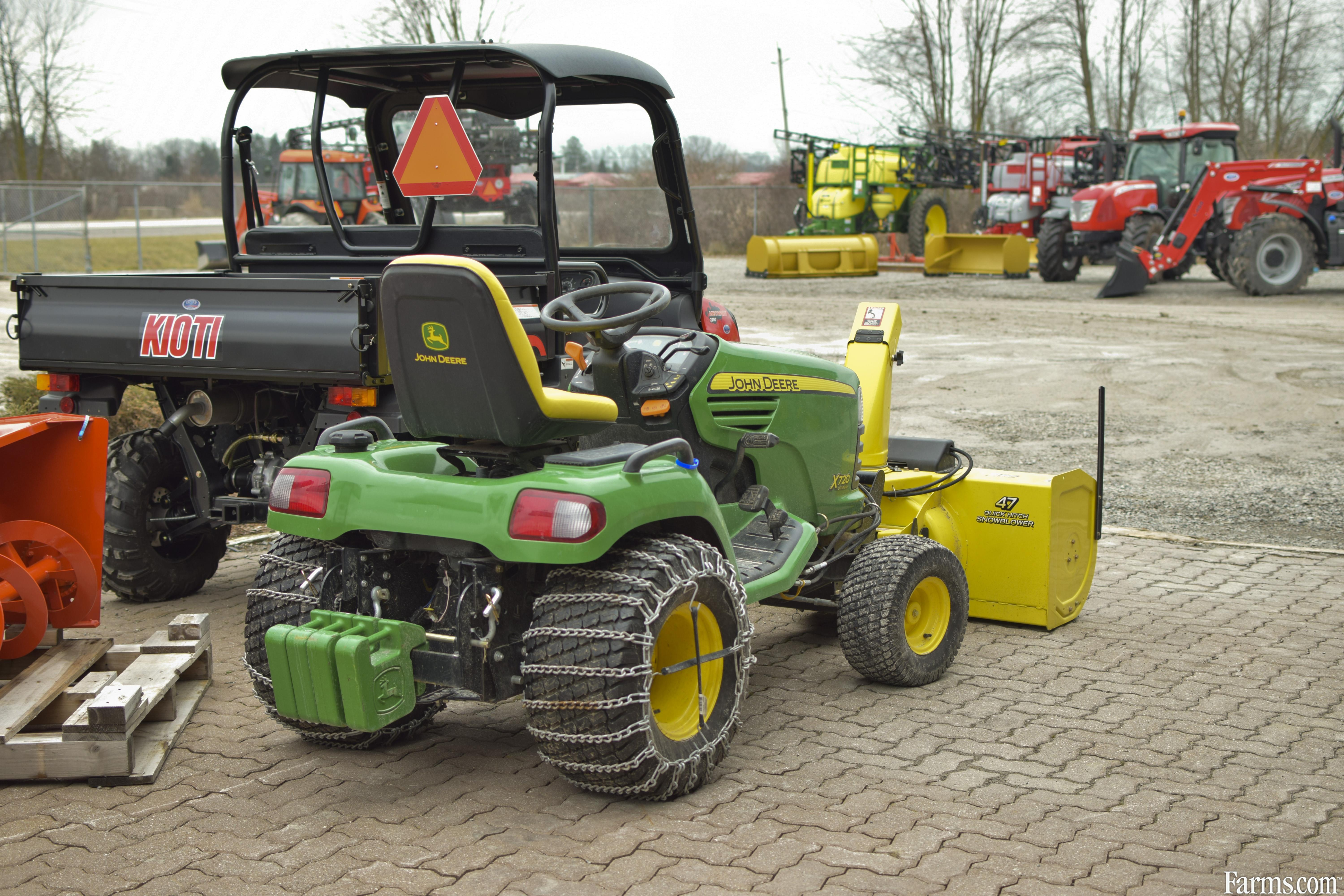 2011 john deere x720 lawn tractor with snowblower for sale for Used garden tractors for sale near me