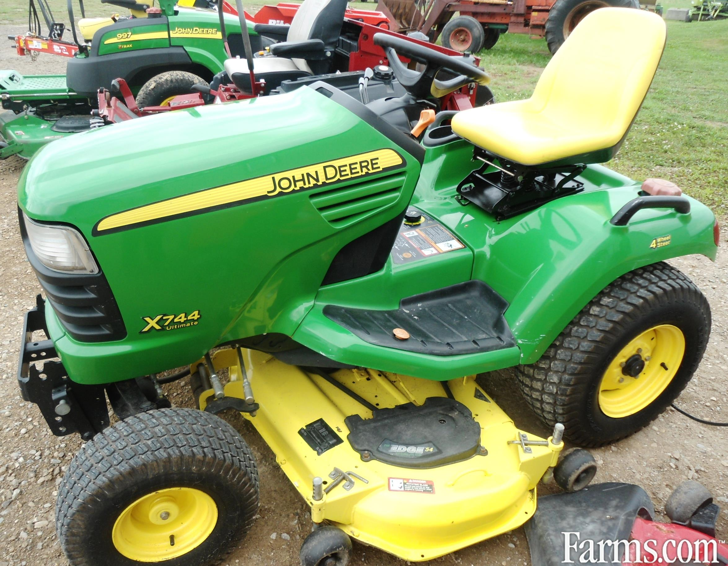 John deere x744 lawn tractor for sale for Used lawn and garden equipment
