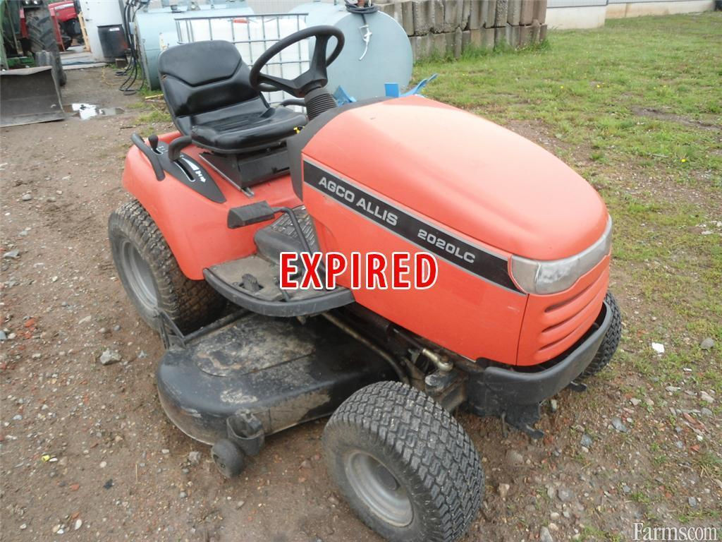 Agco allis 2020lc lawn tractor for sale for Used lawn and garden equipment
