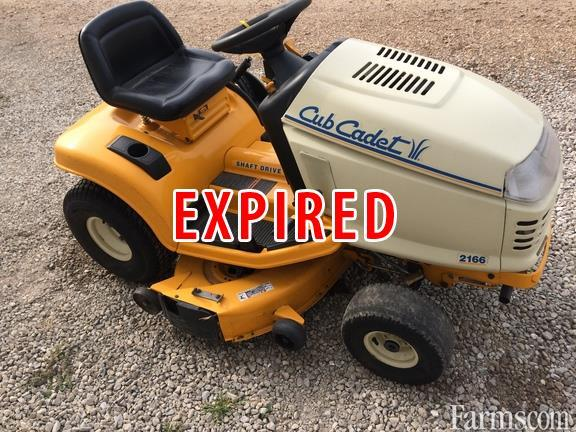 Cub Cadet Lawn Mowers Dealers : Cub cadet riding lawn mower classified farms