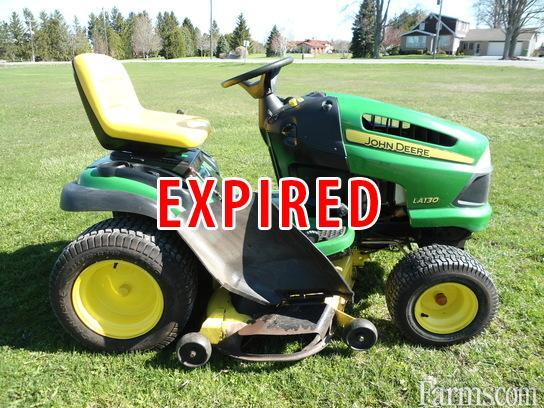2007 john deere la130 lawn tractor for sale for Used garden tractors for sale near me