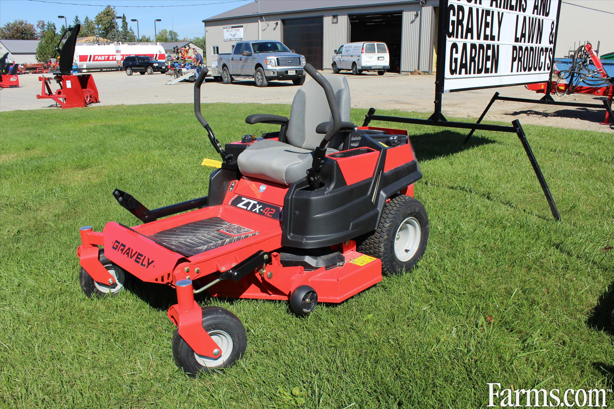 2015 gravely x42 lawn tractor for sale for Used lawn and garden equipment