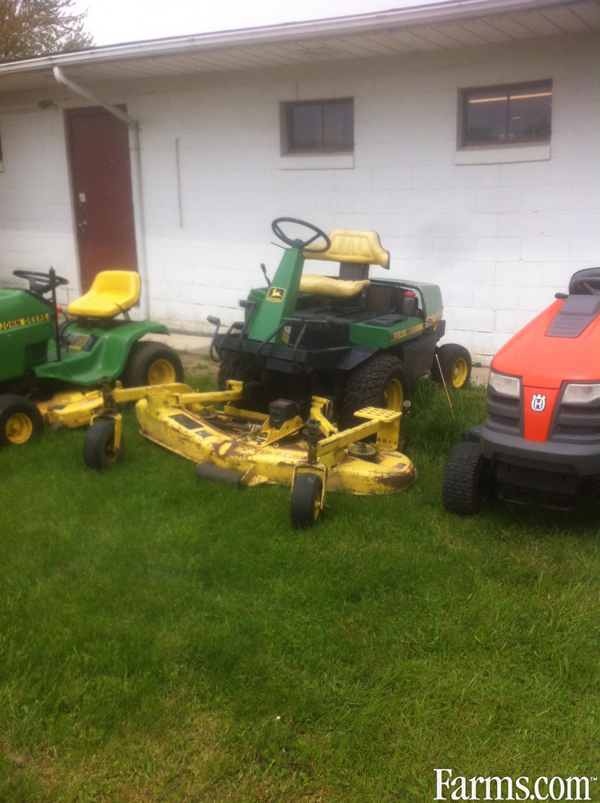 John deere f935 mower front deck for sale for Used lawn and garden equipment