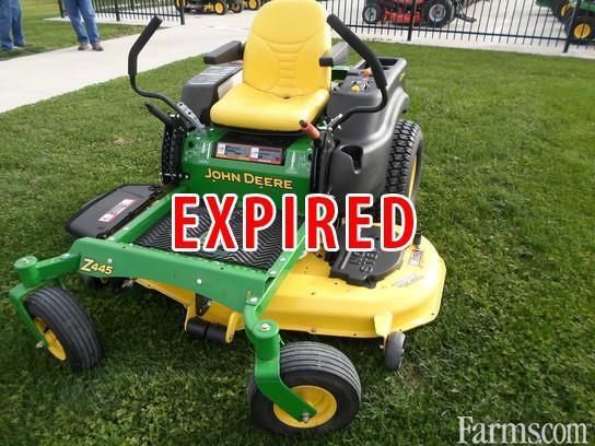 2013 john deere z445 54 deck riding lawn mower for sale Used garden tractors for sale near me