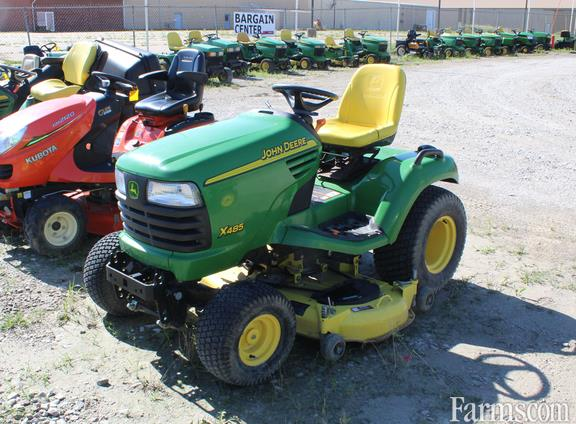 2005 john deere x485 for sale for Used lawn and garden equipment